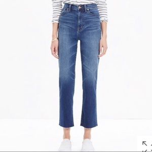 """Madewell 11"""" High Rise Crop Flare Jeans"""